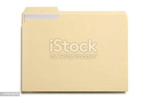 Manila folder with white paper in it.