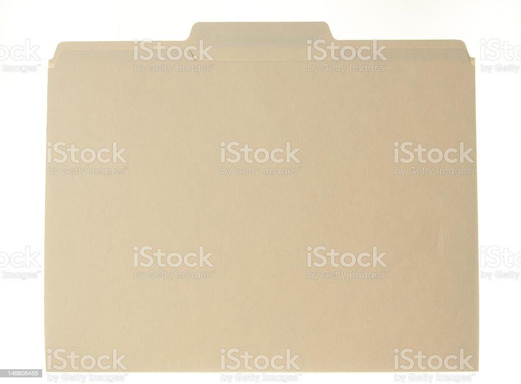 Manila file folder royalty-free stock photo