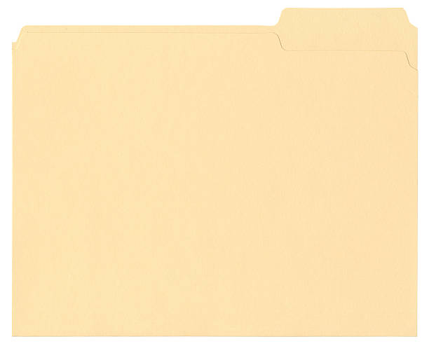 Manila File Folder stock photo