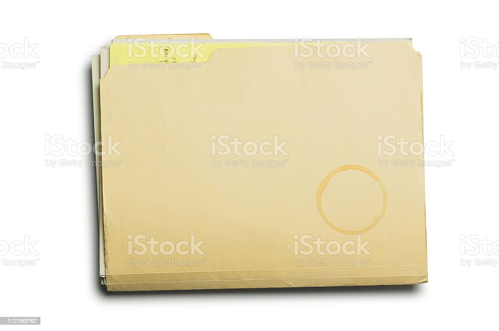 Manila Folder & Coffe Stain royalty-free stock photo