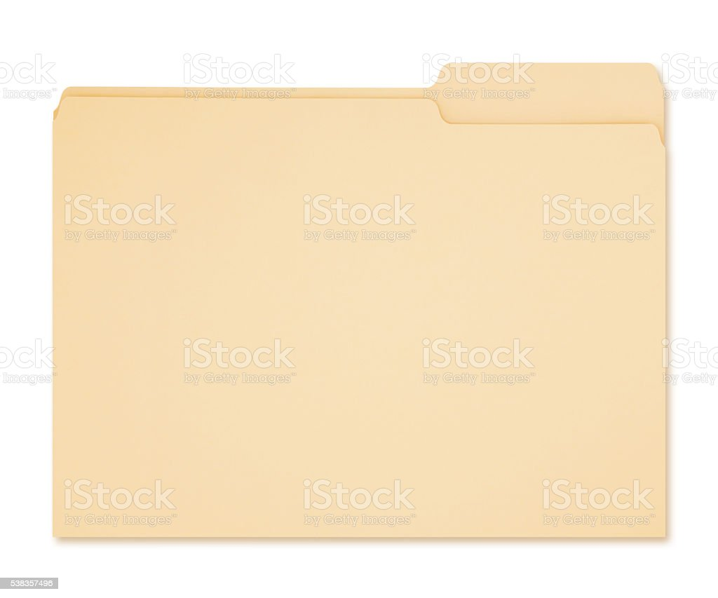 Manila Folder (with path) stock photo