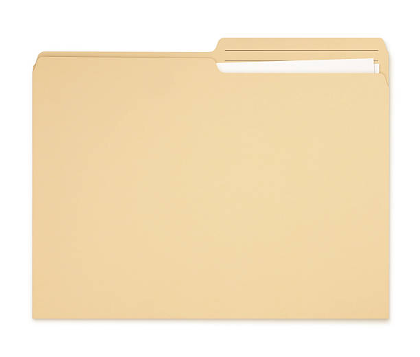 Manila Folder with papers stock photo