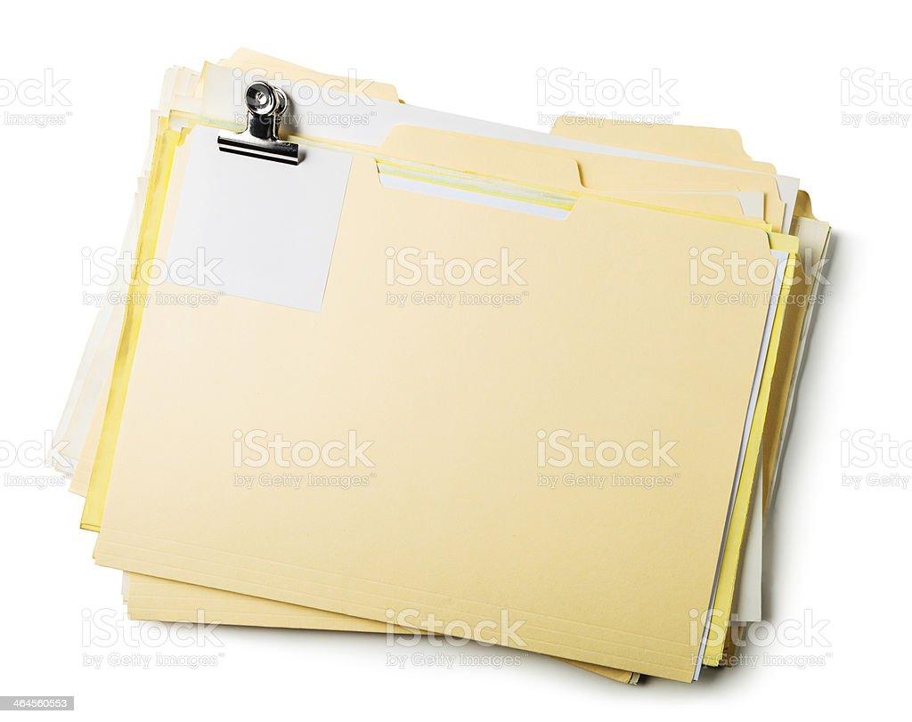 Manila Folders stock photo