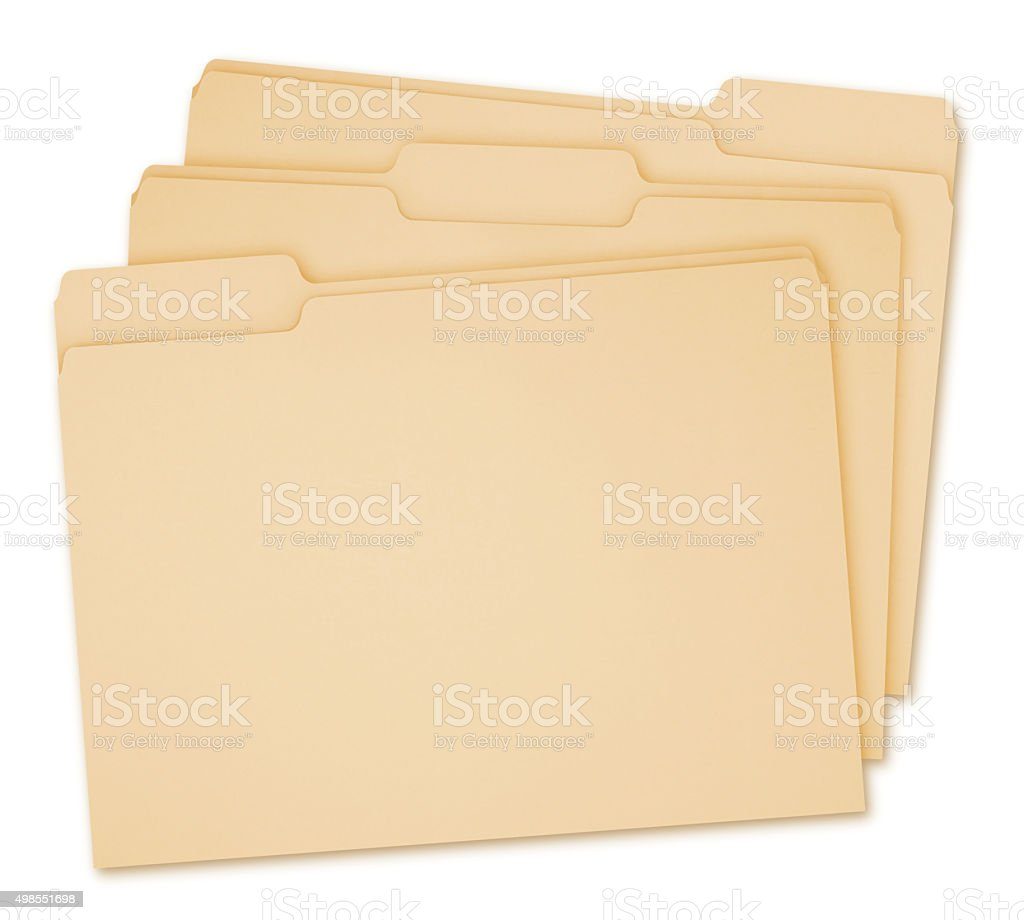 Manila Folders (with path) stock photo