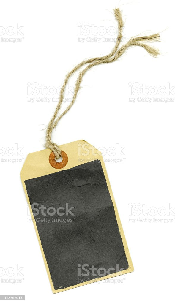 Manila Paper Tag With String XXL royalty-free stock photo