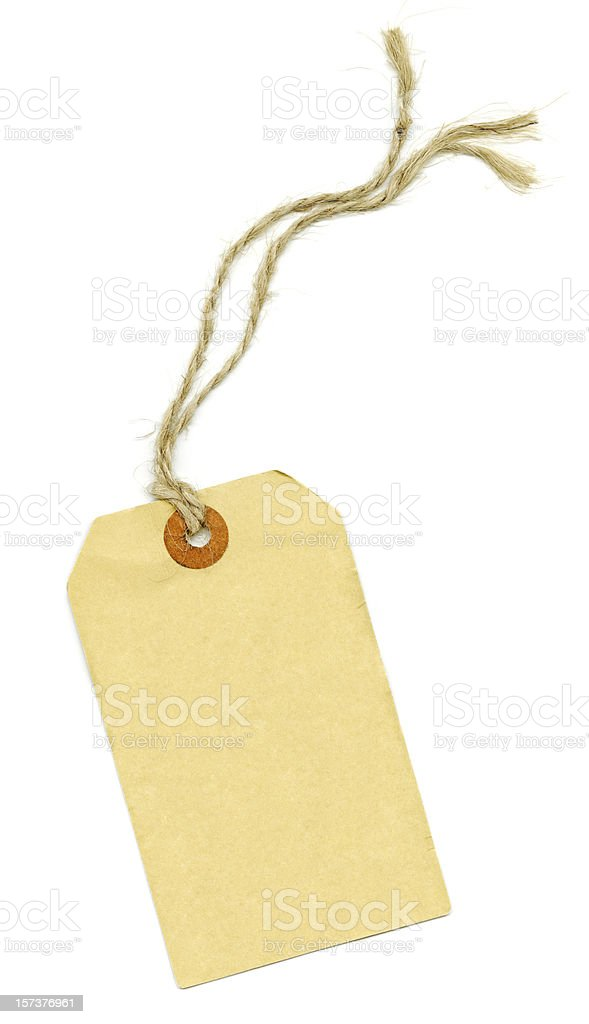 Manila Paper Tag With String  XXXL royalty-free stock photo