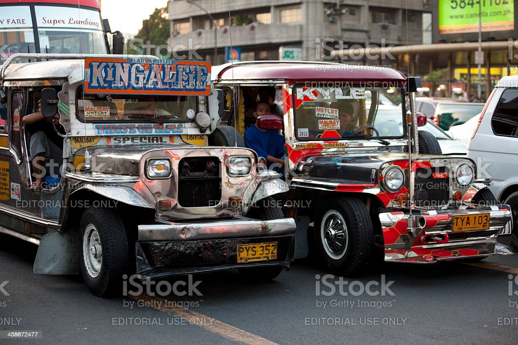 Manila, Philippines - Jeepney Traffic royalty-free stock photo