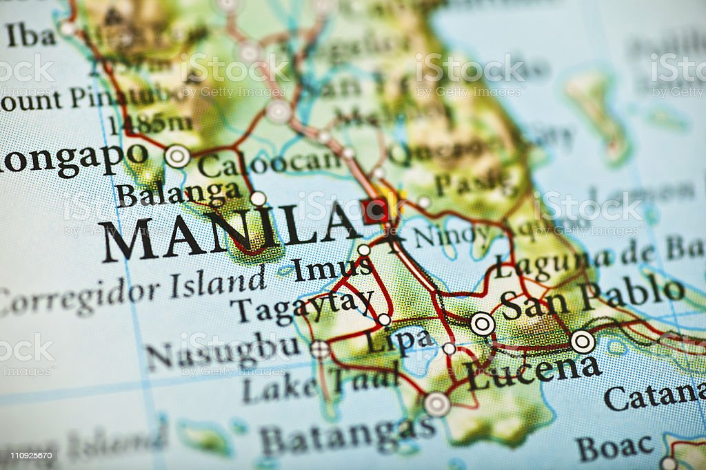 Manila Philippines Map Stock Photo More Pictures of Asia iStock