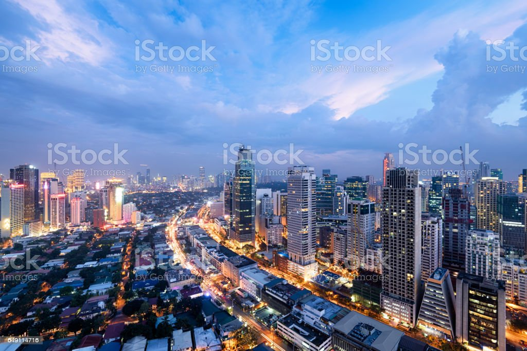 Manila Skyline, Philippines. stock photo