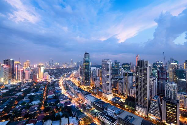 Manila Skyline, Philippines. stock photo