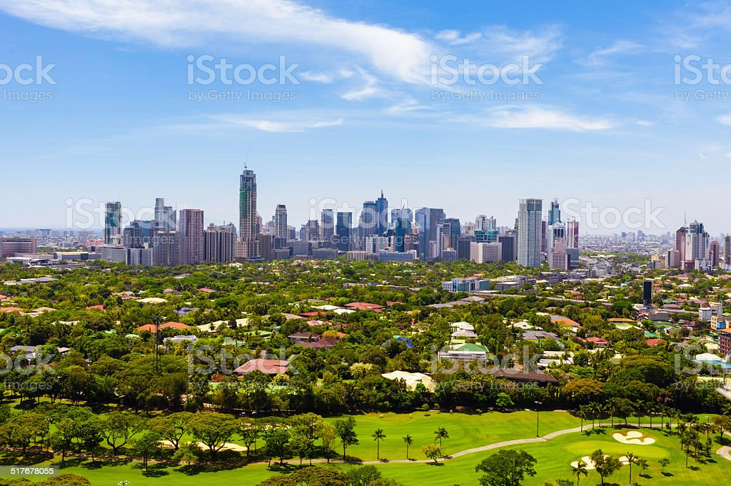 Manila skyline stock photo