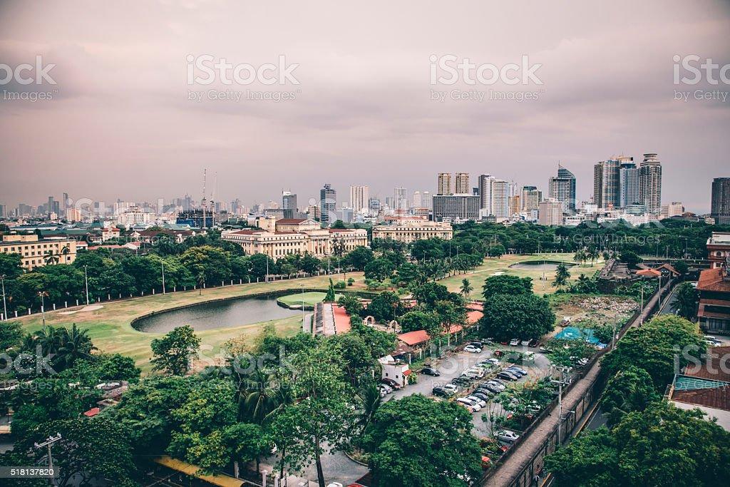 Manila skyline stock photo