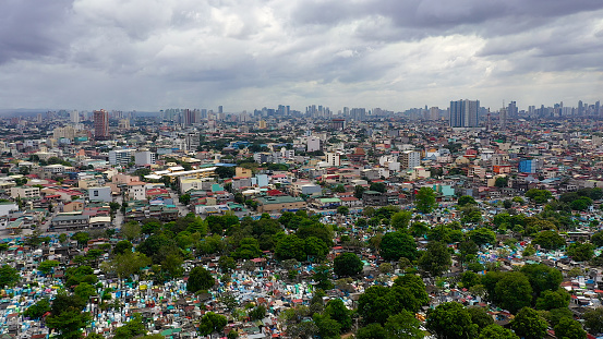 Manila, the capital of the Philippines aerial view