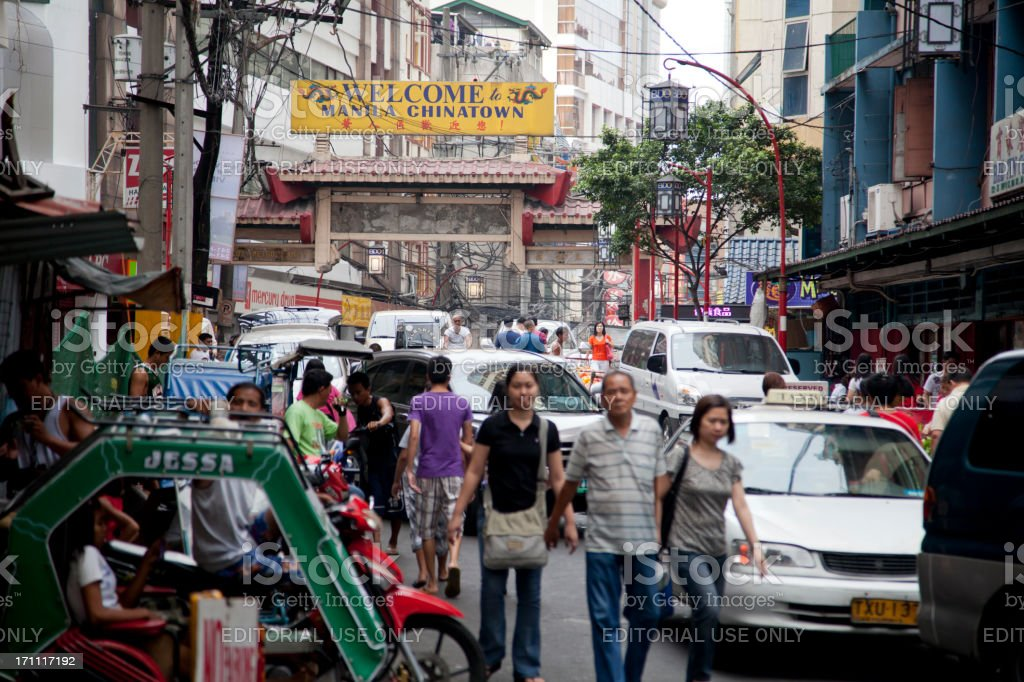 Manila's Chinatown Binondo District royalty-free stock photo