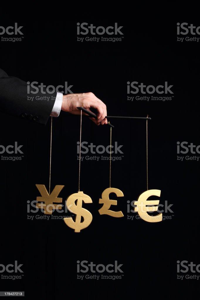 Manipulating  Economy royalty-free stock photo