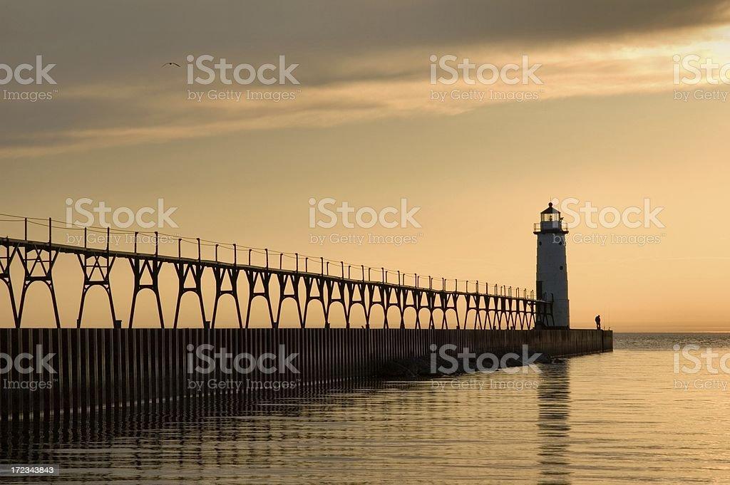 Manistee Lighthouse stock photo