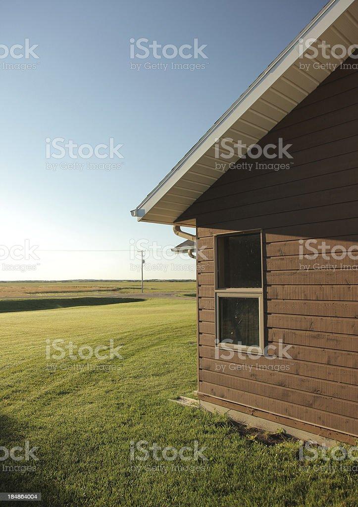 Manitoba Farm House stock photo