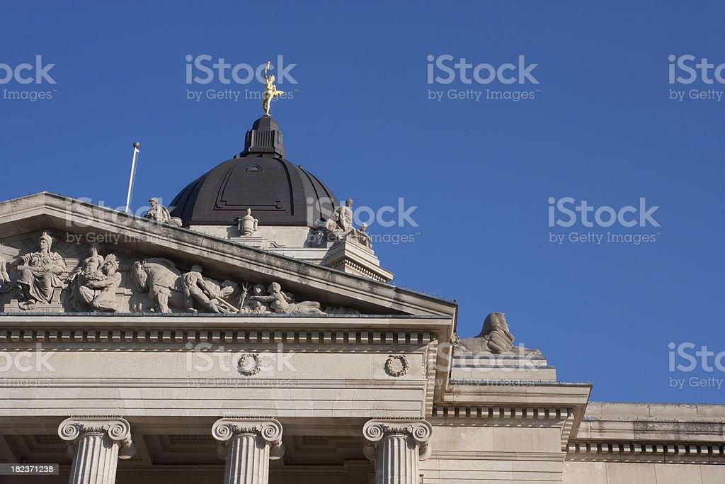 Manitoba Legislator Building royalty-free stock photo