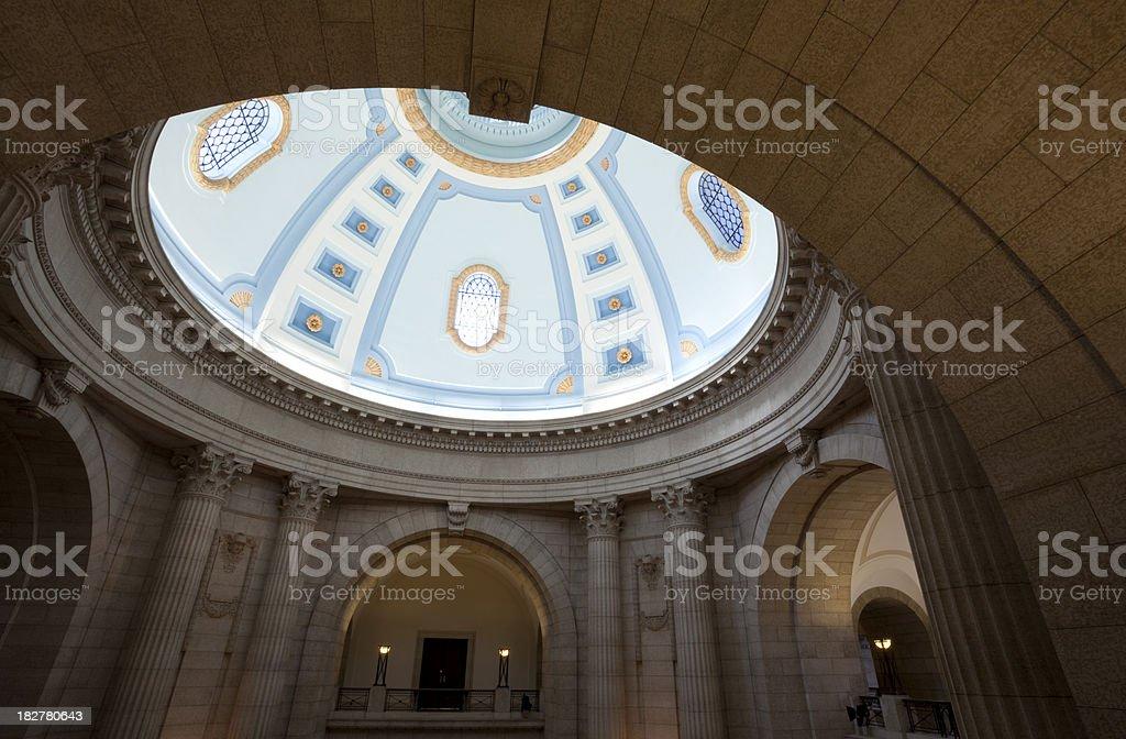 Manitoba Legislature Building royalty-free stock photo