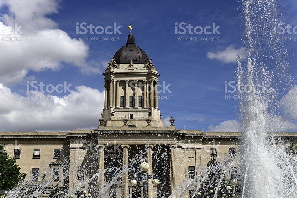 Manitoba Legislature royalty-free stock photo