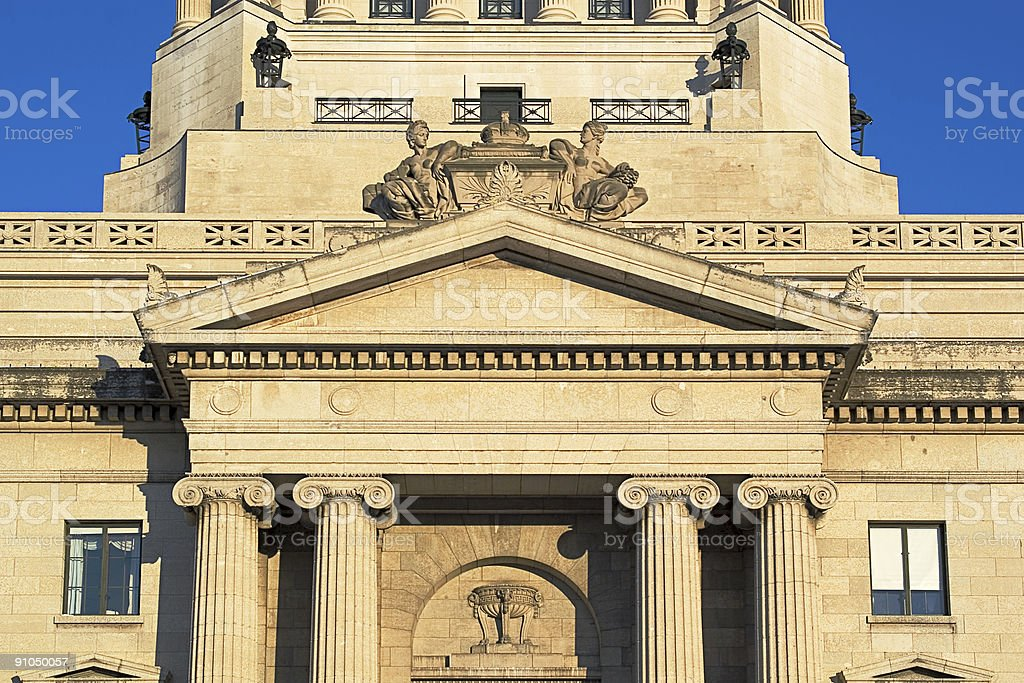 Manitoba Legislature Tower Close-up. royalty-free stock photo