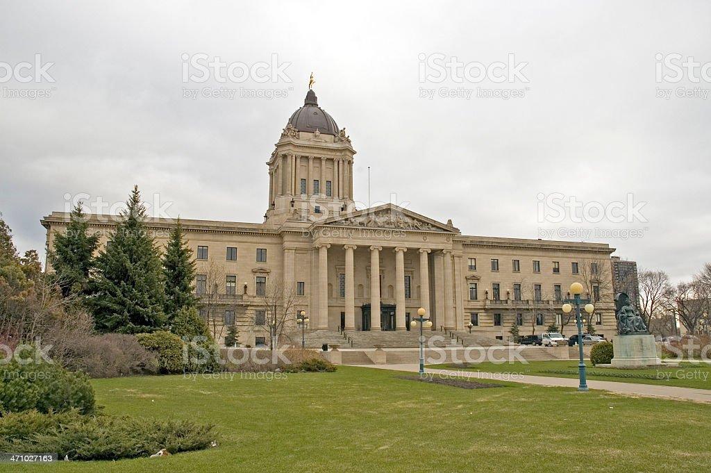 Manitoba Provincial Legislature royalty-free stock photo