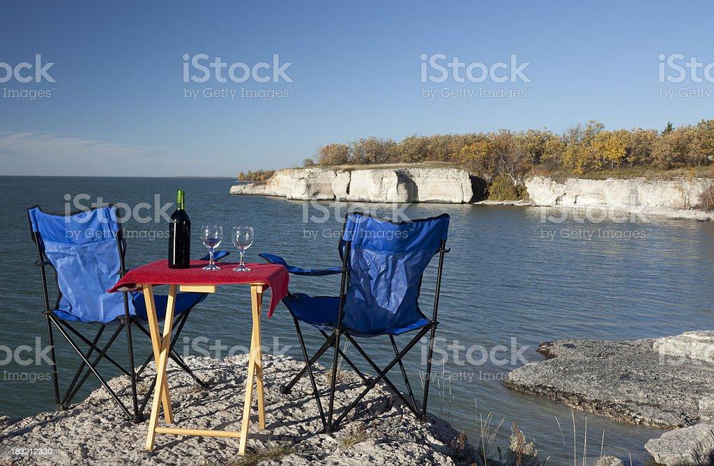 Manitoba Steep Rock stock photo