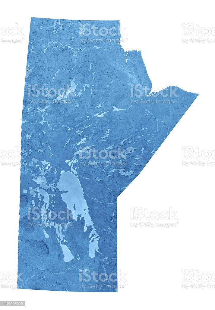 Manitoba Topographic Map Isolated stock photo