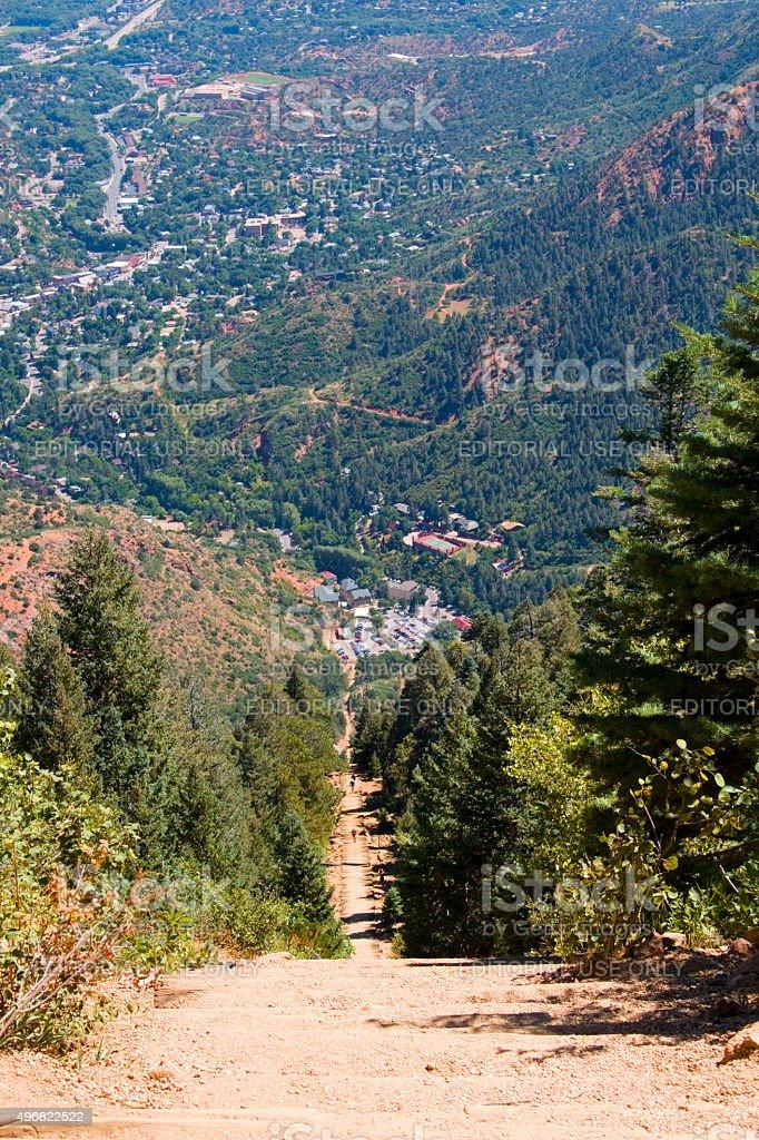 Manitou Springs Pikes Peak Incline stock photo