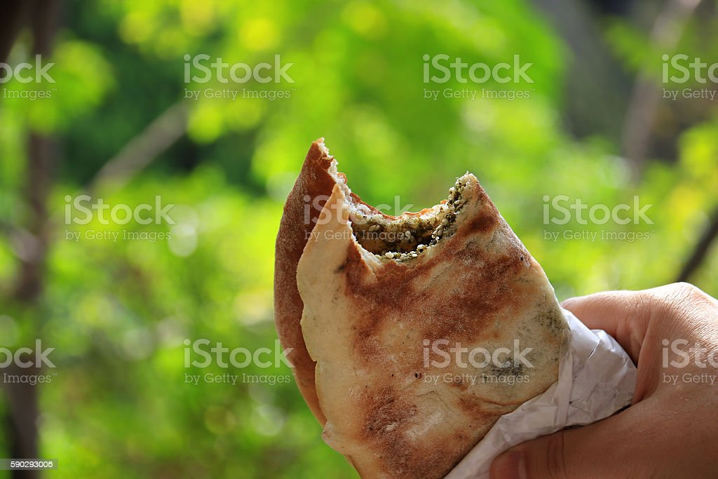 Mankousheh, Lebanese Breakfast royaltyfri bildbanksbilder