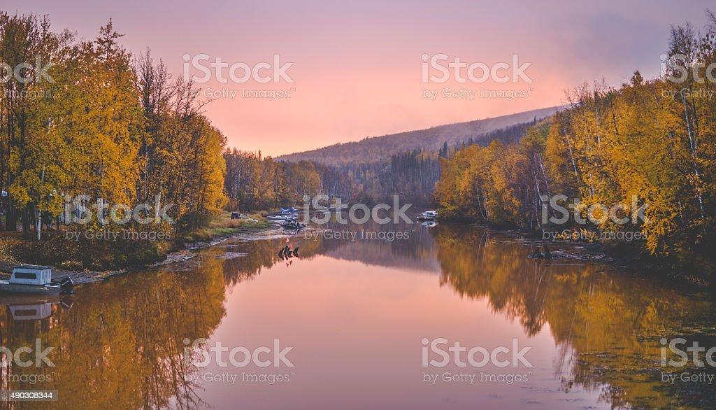 Manley Hot springs, Alaska stock photo