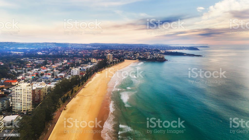 DJI Manly beach 2 north stock photo
