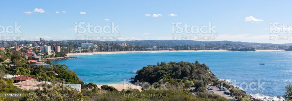 Manly Beach Australia - Panoramic stock photo