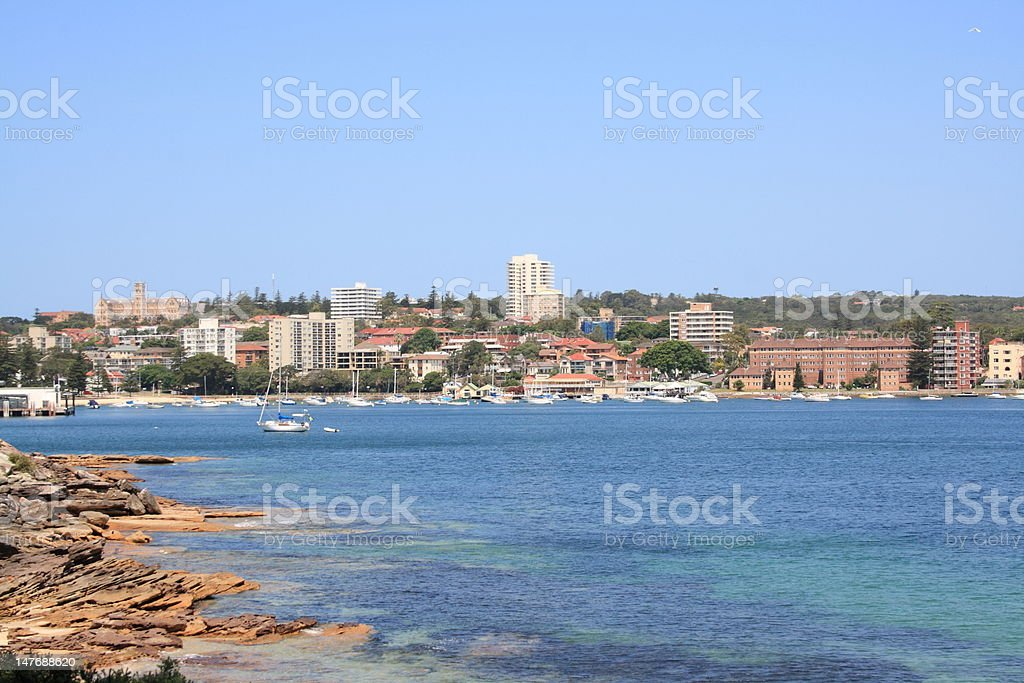 Manly beach near Sydney stock photo