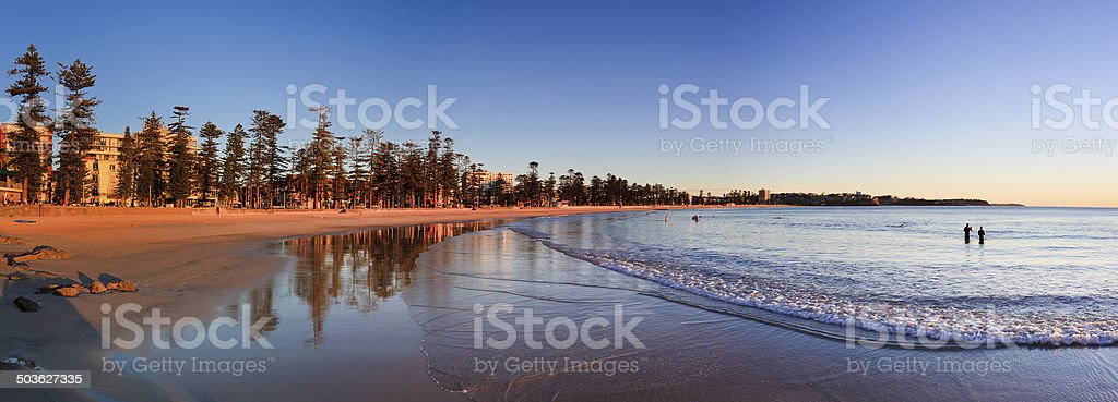 Manly Beach Rise 02 Pan stock photo