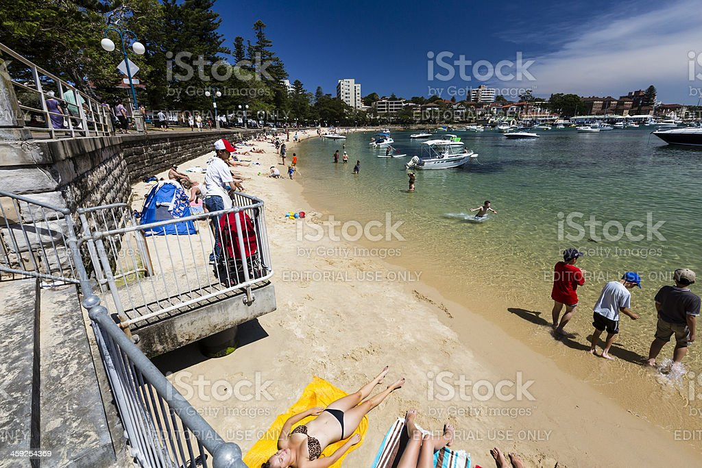 Manly Cove beach royalty-free stock photo