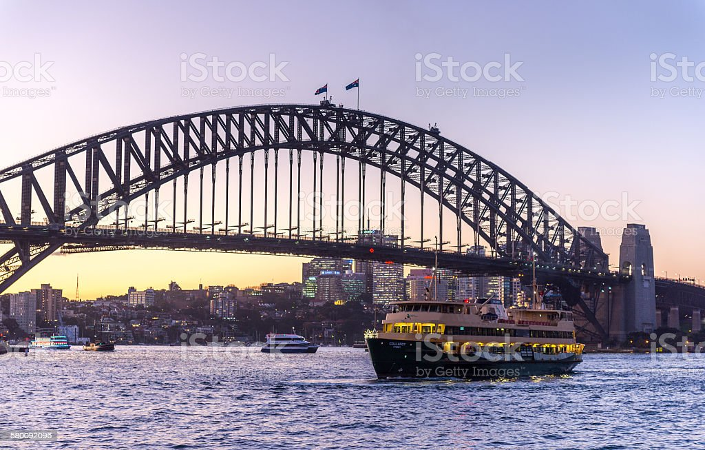 Manly ferry in Sydney stock photo