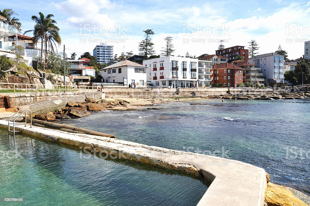 Manly Ocean Pool Landscape stock photo