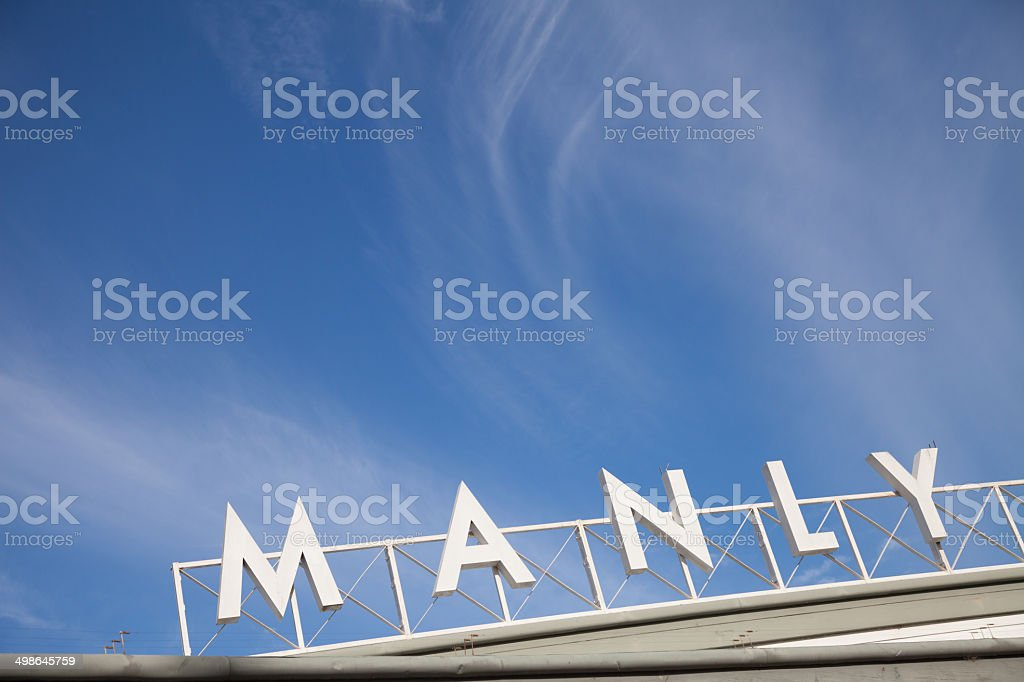 Manly stock photo