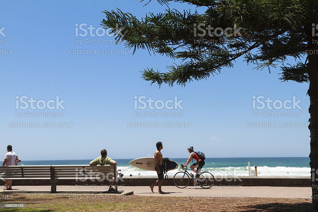 Manly Promenade stock photo