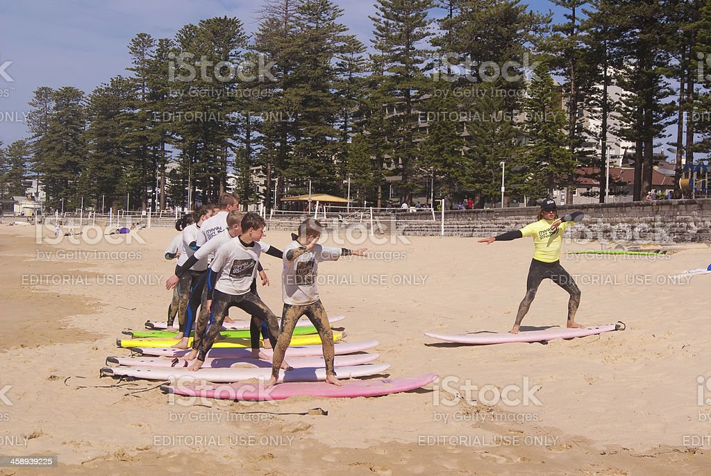 Manly Surf School stock photo