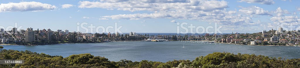 Manly Wharf Australia - Panoramic stock photo