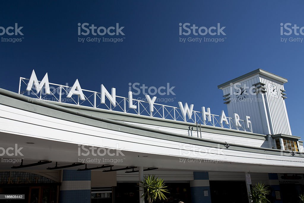 Manly Wharf, Ferry port, Sydney, Australia stock photo