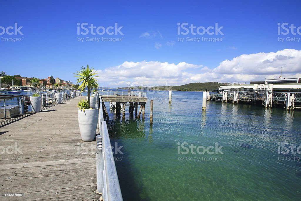 Manly Wharf Sydney stock photo