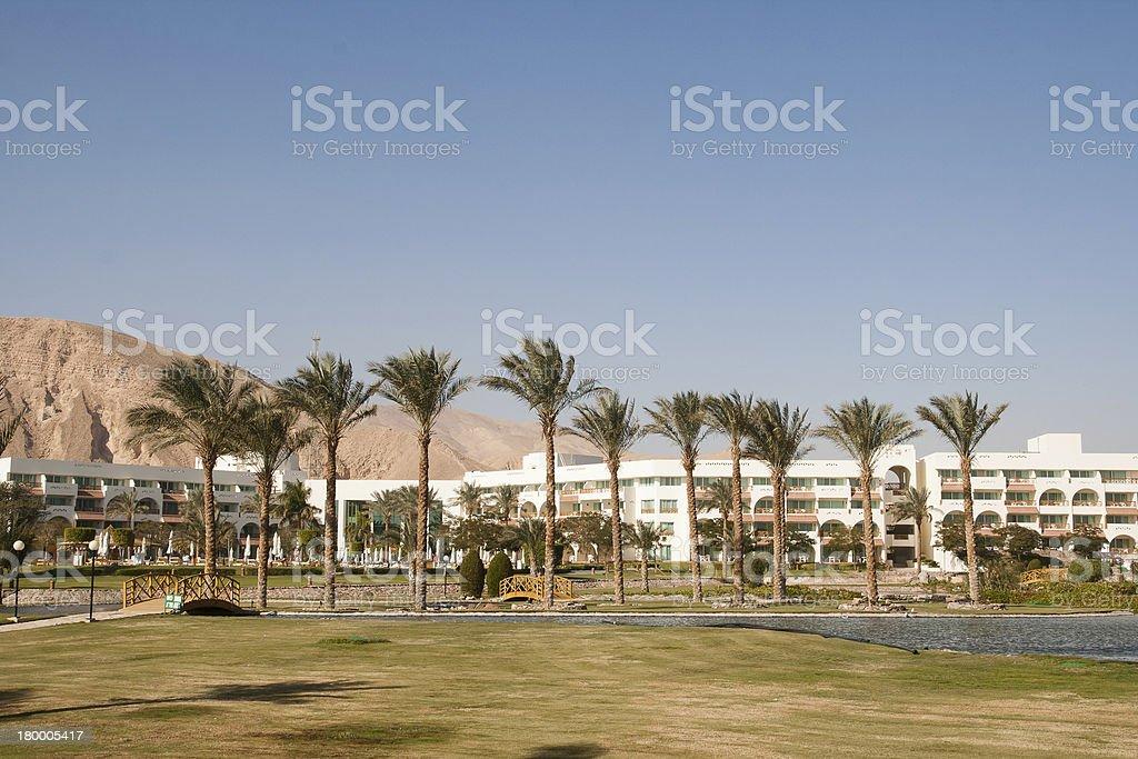 인조 카일라쉬 호텔. 타바, 이집트. royalty-free 스톡 사진
