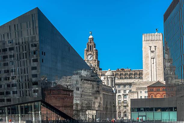 Mann Island Liverpool stock photo