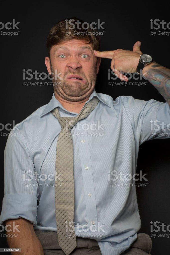 Mann ist Im Job verzweifelt – Foto