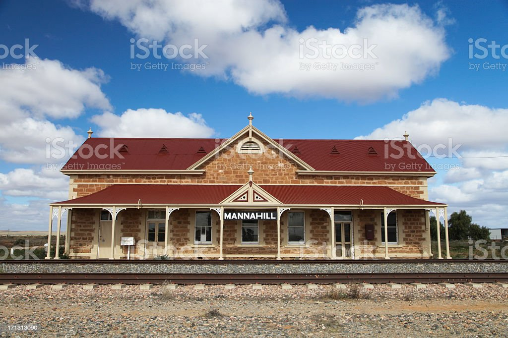 Mannahill railway station stock photo