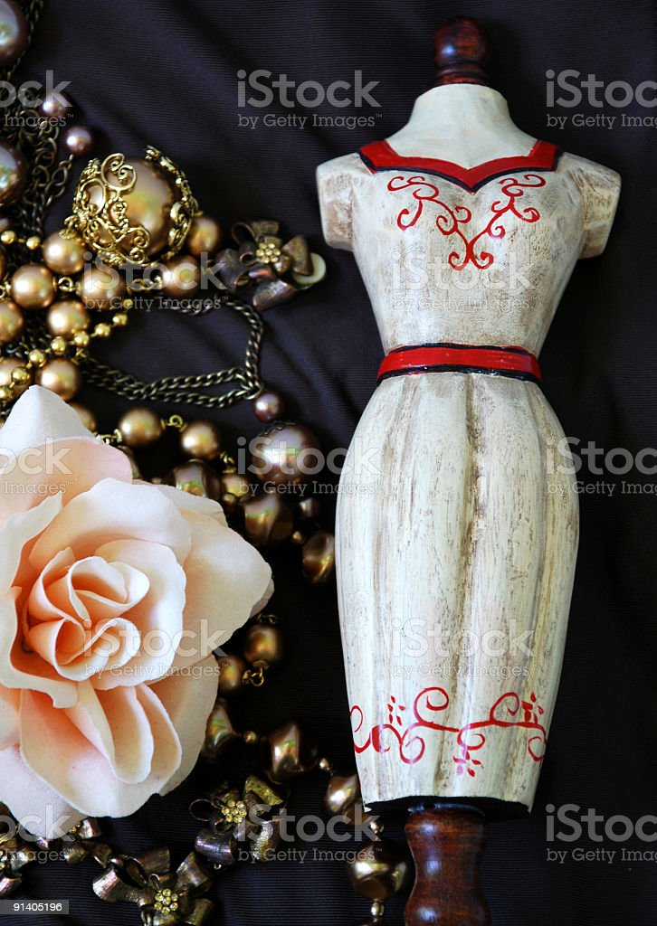 mannequin and beads royalty-free stock photo