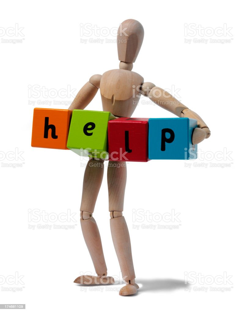 Mannequin and Help royalty-free stock photo